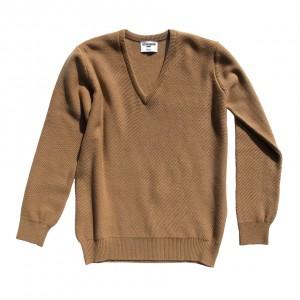 Honeycomb stitch 100% cashmere in camel